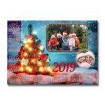 """Фотокалендар-постер горизонтальний """"Тепло Рождества"""""""