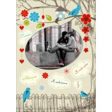 """Вертикальный пазл на день влюбленных """"Bird Song"""""""
