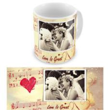 """Чашка на День влюбленных """"Нотки любви"""""""