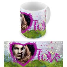 """Чашка на День влюбленных """"Счастливый"""""""