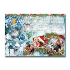 """Фотокалендар-постер горизонтальний """"Новий рік"""""""