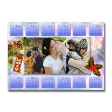 "Фотокалендар-постер горизонтальний ""Новогодний блеск"""