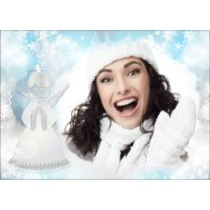 """Новогодний горизонтальный пазл """"Снежок"""""""