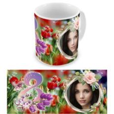 """Чашка на 8 марта """"Тюльпан"""""""