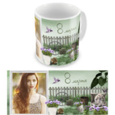 "Чашка на 8 марта ""Весеннее утро"""
