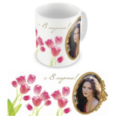 """Чашка на 8 марта """"Весенние тюльпаны"""""""