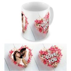 """Чашка на День влюбленных """"Любовь и розы"""""""