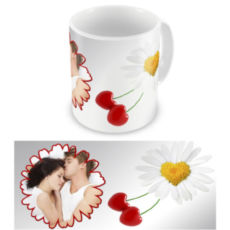 """Чашка на День влюбленных """"Ромашка"""""""
