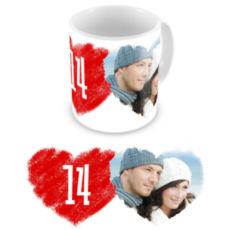 "Чашка на День влюбленных ""Закохані"""