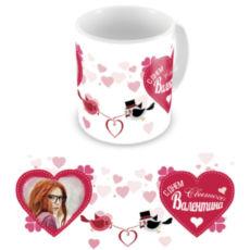 """Чашка на День влюбленных """"В сердце"""""""
