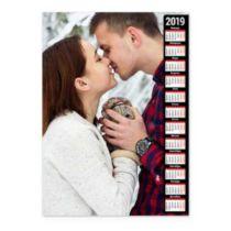 Большие фото, календарная сетка на темном фоне. Календарь-постер