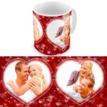 Два сердца. Чашка для влюбленных, на 8-е марта, ко Дню Святого Валентина.