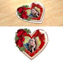 Образ любви. Фотопазл в форме сердца.