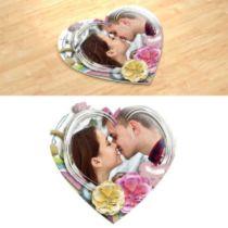 Повітряний поцілунок. Фотопазл в формі серця.