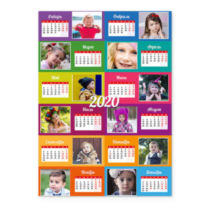 Шахматы. Разноцветный. Календарь-постер