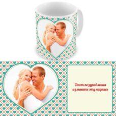 Сердечка. Чашка для влюбленных, на 8-е марта, ко Дню Святого Валентина.