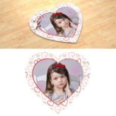 Детский рисунок. Фотопазл в форме сердца.