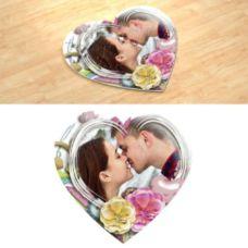 Воздушний поцелуй. Фотопазл в форме сердца.