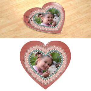 Апликация. Фотопазл в форме сердца.